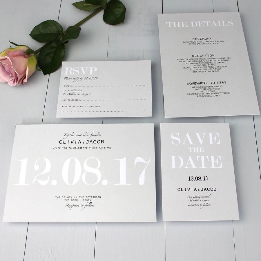 Fullsize Of Modern Wedding Invitations