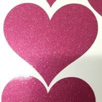 glitter heart stickers by wall art quotes & designs by ...
