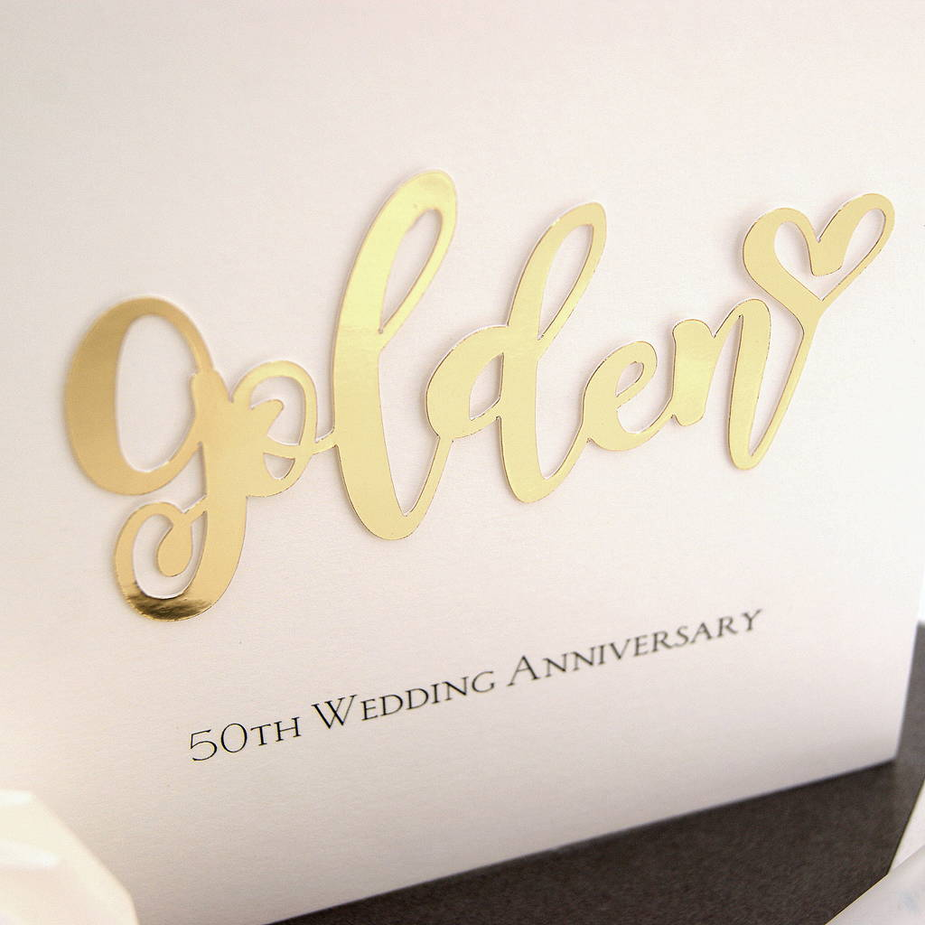 Manly Gen Wedding Anniversary Card Gen Wedding Anniversary Card By Hummingbird Card Company 50th Wedding Anniversary Colors 50th Wedding Anniversary Wishes wedding 50th Wedding Anniversary