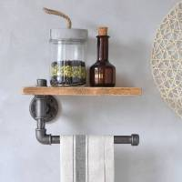 industrial kitchen towel holder and shelf by industrial by ...