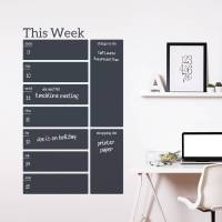 write and erase weekly planner wall decal sticker by ...