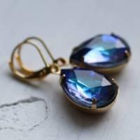 ocean blue vintage earrings by silk purse, sow's ear ...