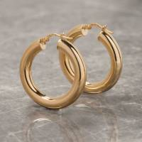 thick hoop earrings in gold or silver by loel & co ...