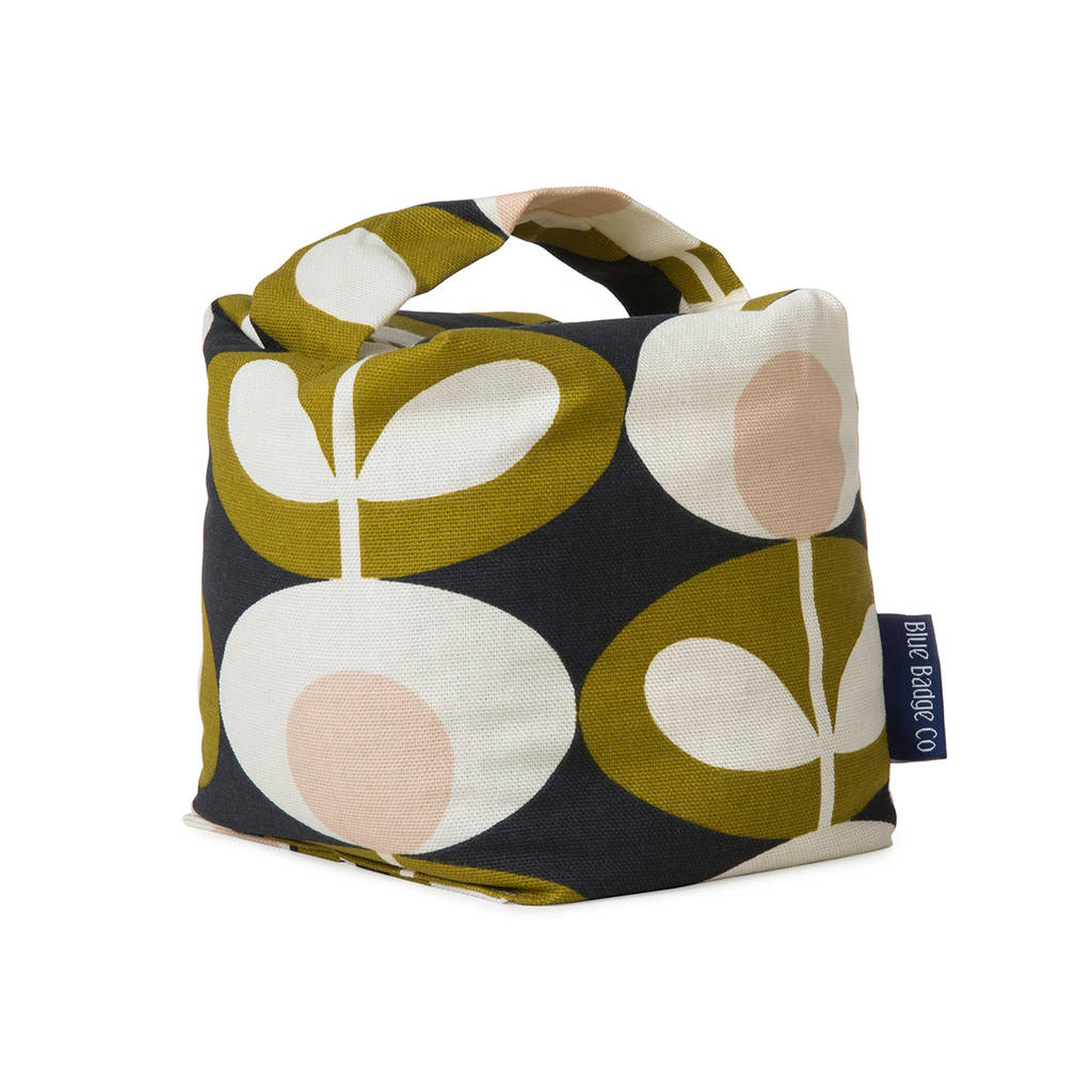 Fabric Door Stopper Fabric Door Stop In Orla Kiely Seagrass By Blue Badge Co