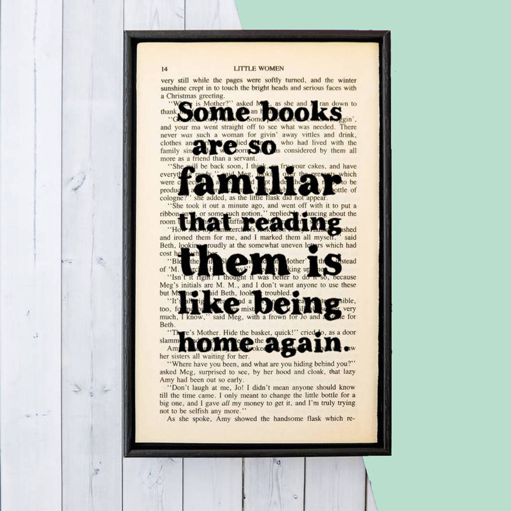 Book Lover Gift Book Lover 39some Books Are So Familiar 39 Quote Print By