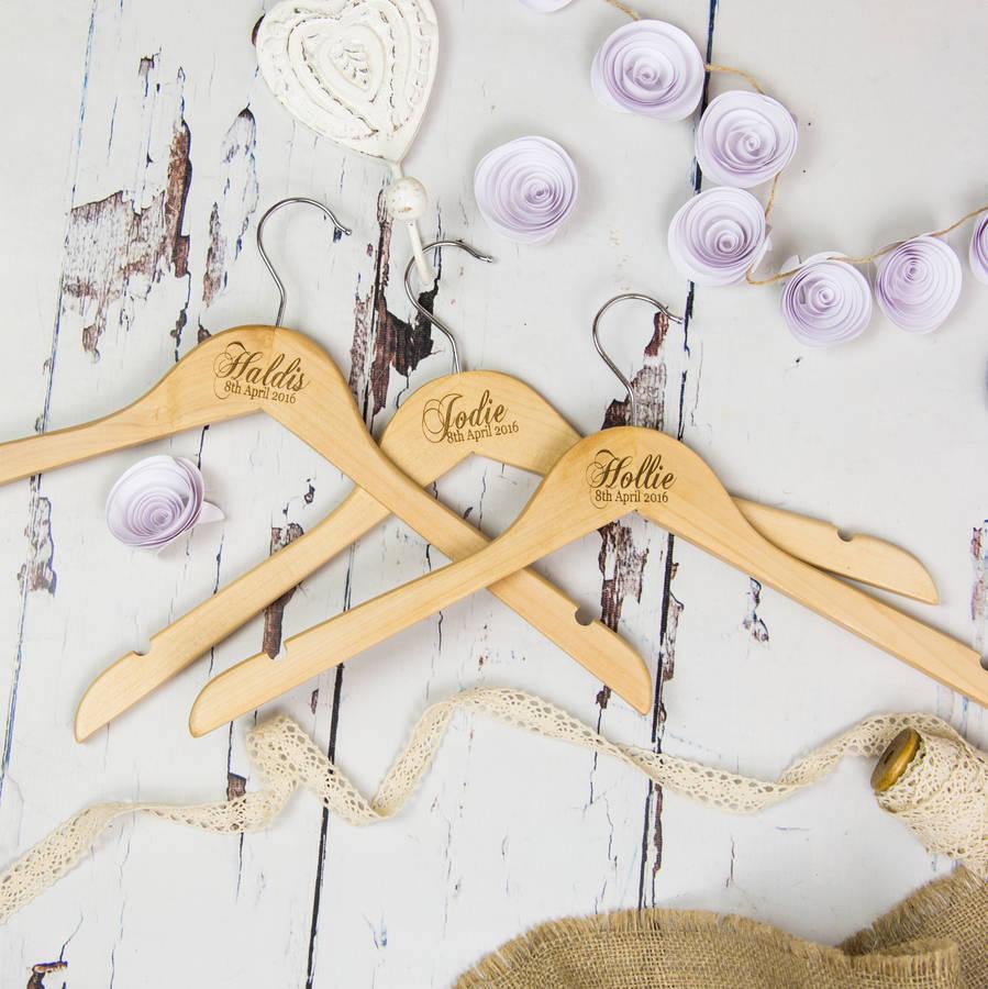 personalised wedding hangers wedding hangers Personalised Wedding Hangers