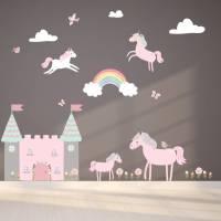 unicorn fabric wall stickers by littleprints ...
