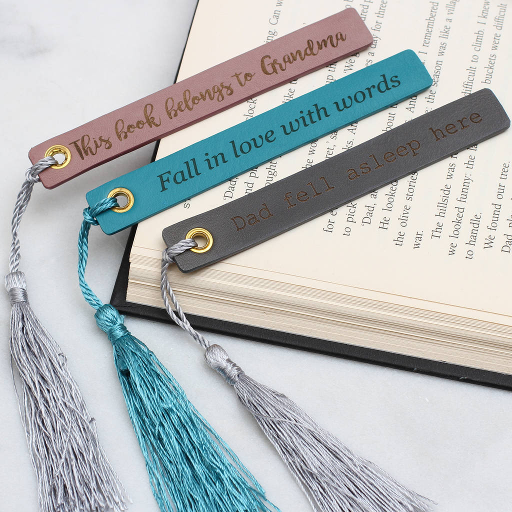 Italian Design Gifts Personalised Italian Leather And Silk Bookmark By