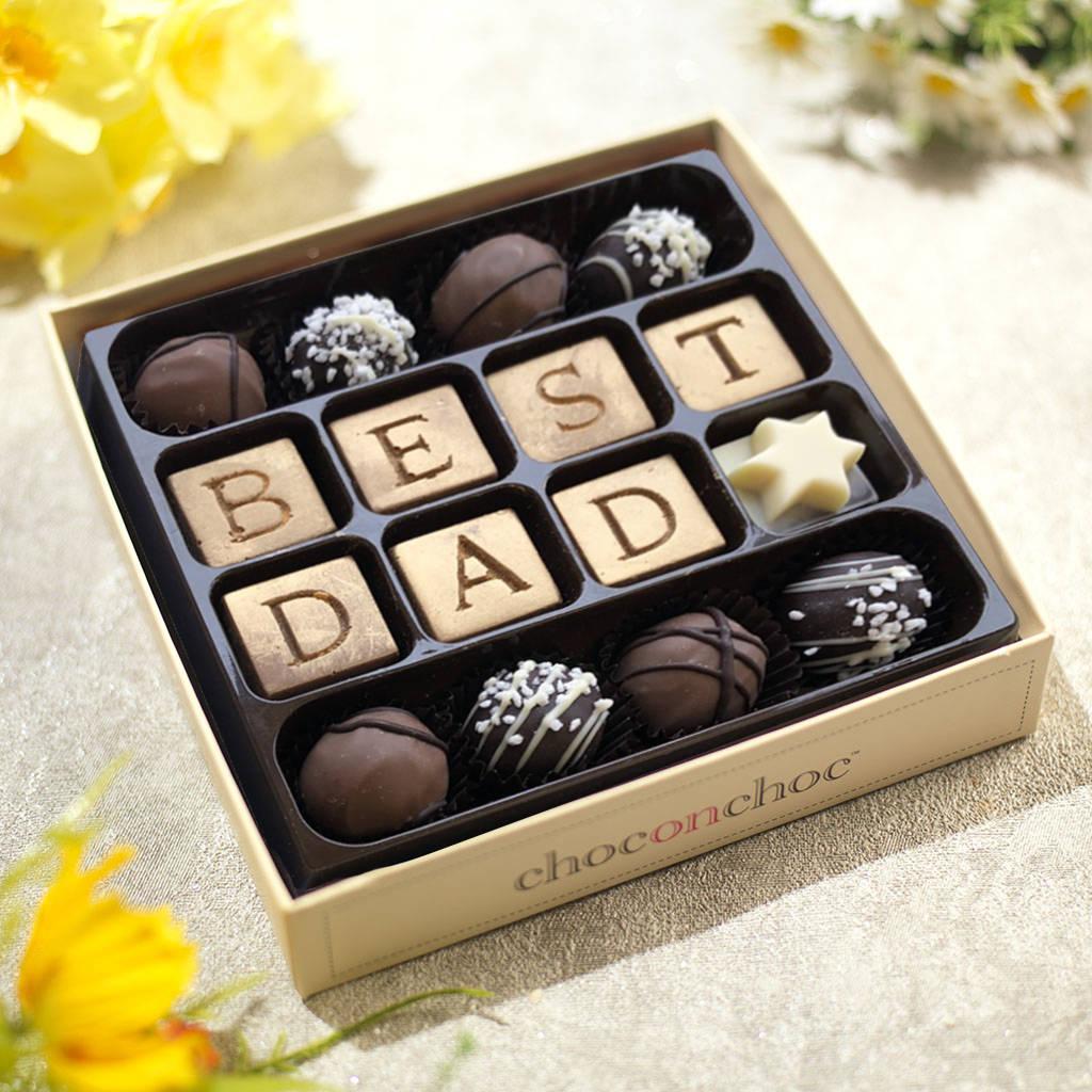 Best Dad Chocolate Truffle Box By Choc On Choc