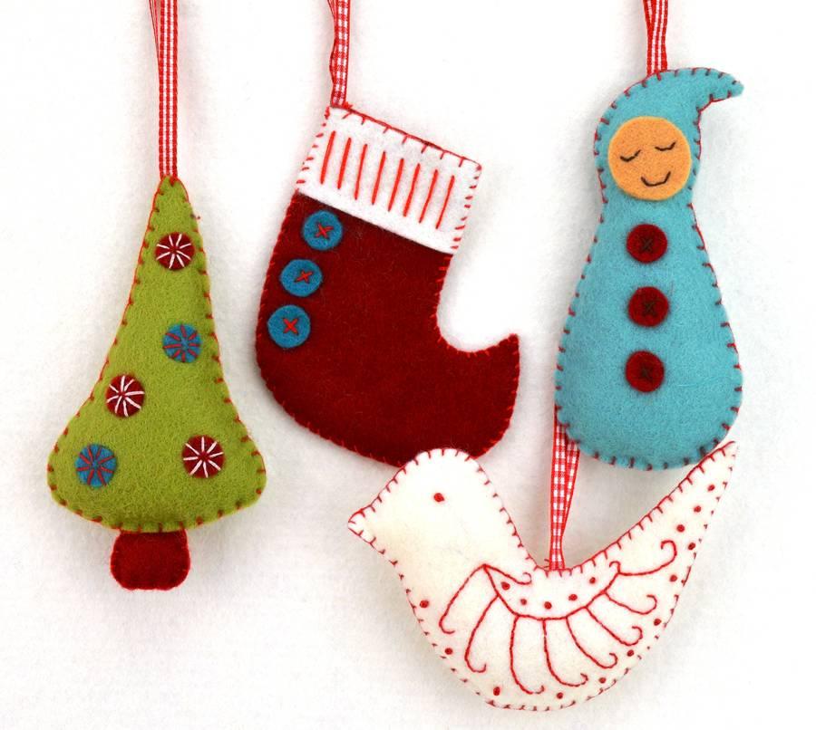 christmas decorations craft kit by corinne lapierre - felt christmas decorations