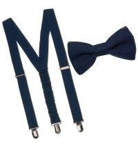boys designer preppy linen bow tie and braces by chateau ...