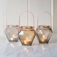 prism glass hanging tealight holder by red lilly ...