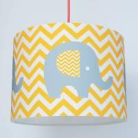 chevron elephant nursery paper lampshade by koko kids ...
