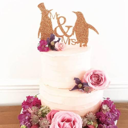 Medium Of Wedding Cake Topper