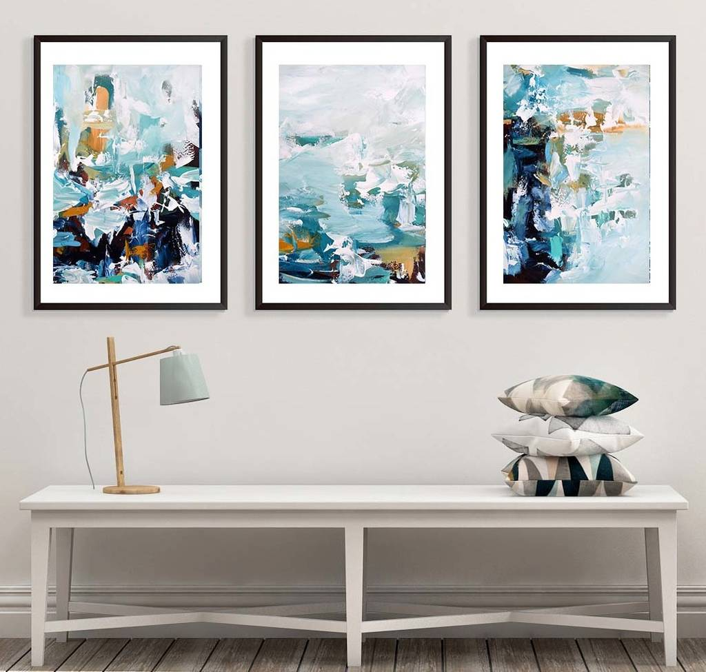 Wall Art Prints And Posters Large Art Print Posters Set Of Three Framed Prints