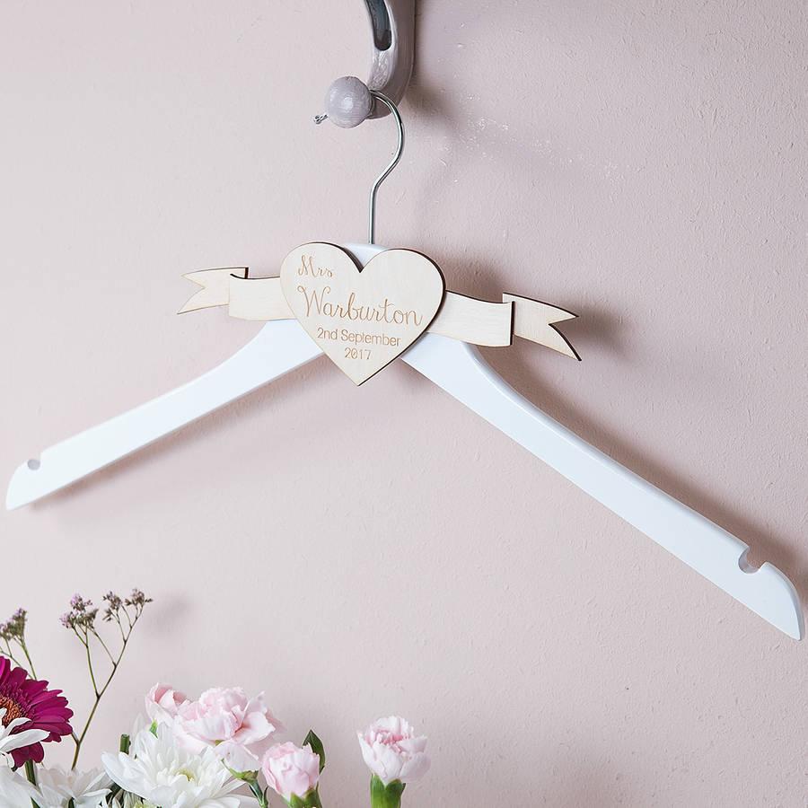 personalised engraved wedding dress hanger wedding hangers Personalised Engraved Wedding Dress Hanger