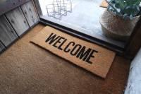 welcome door mat by peastyle | notonthehighstreet.com