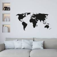 world map wall sticker by leonora hammond