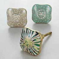 milano collection ceramic door knobs cupboard handles by g ...