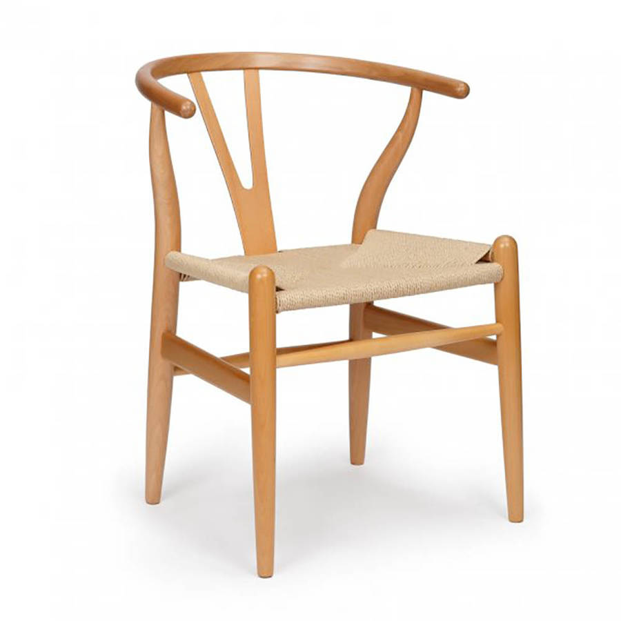 Cool Scandinavian Oak Wishbone Dining Chair Set Of Two By - Y Chair