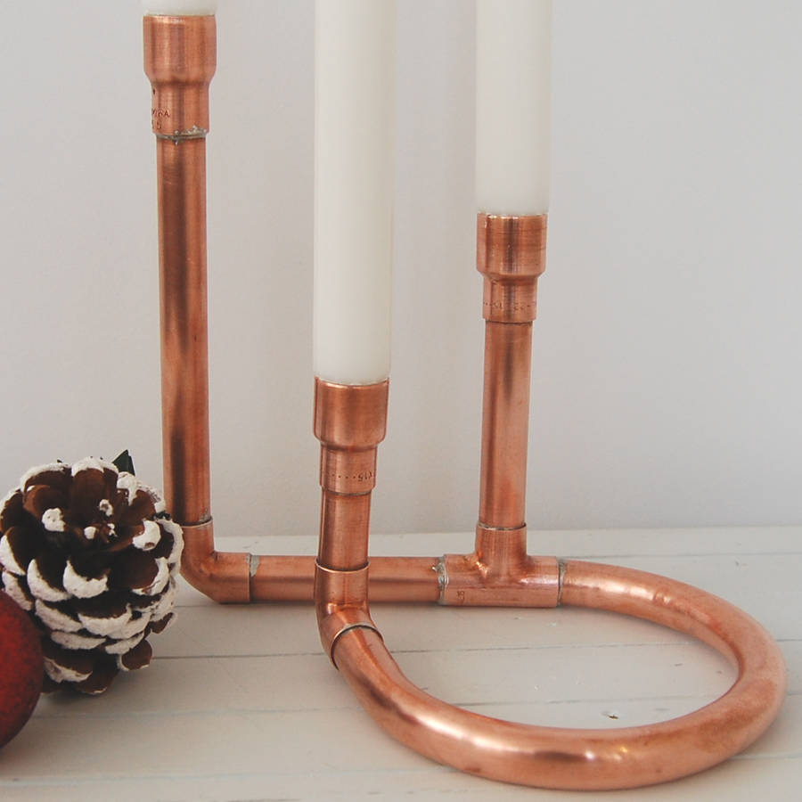 copper candle holder by copper & hall