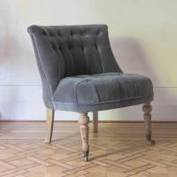 hepburn occasional chair in grey velvet by atkin and thyme ...