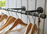 industrial steel pipe clothes rail by industrial by design ...