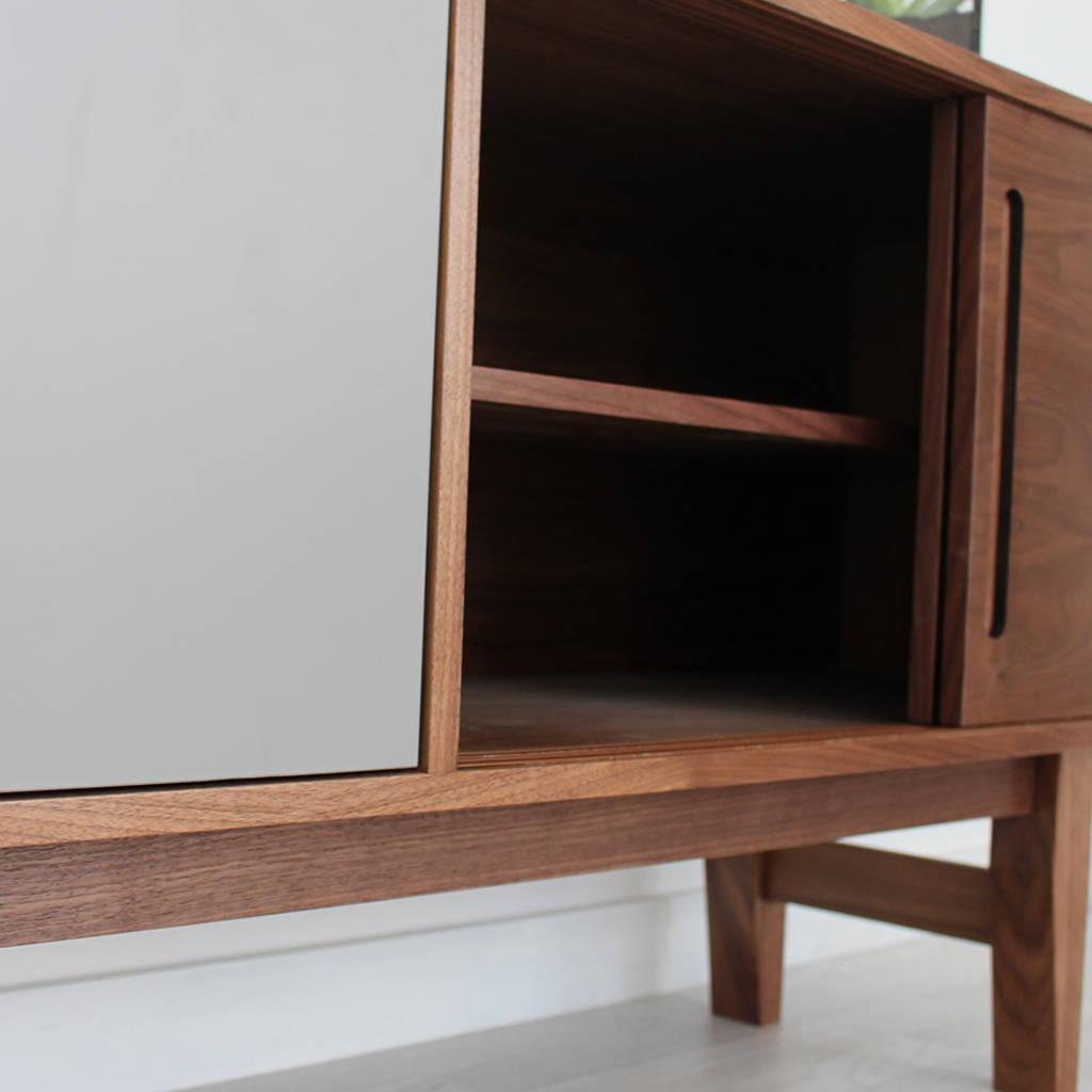 edgeware handmade walnut sideboard by circle line