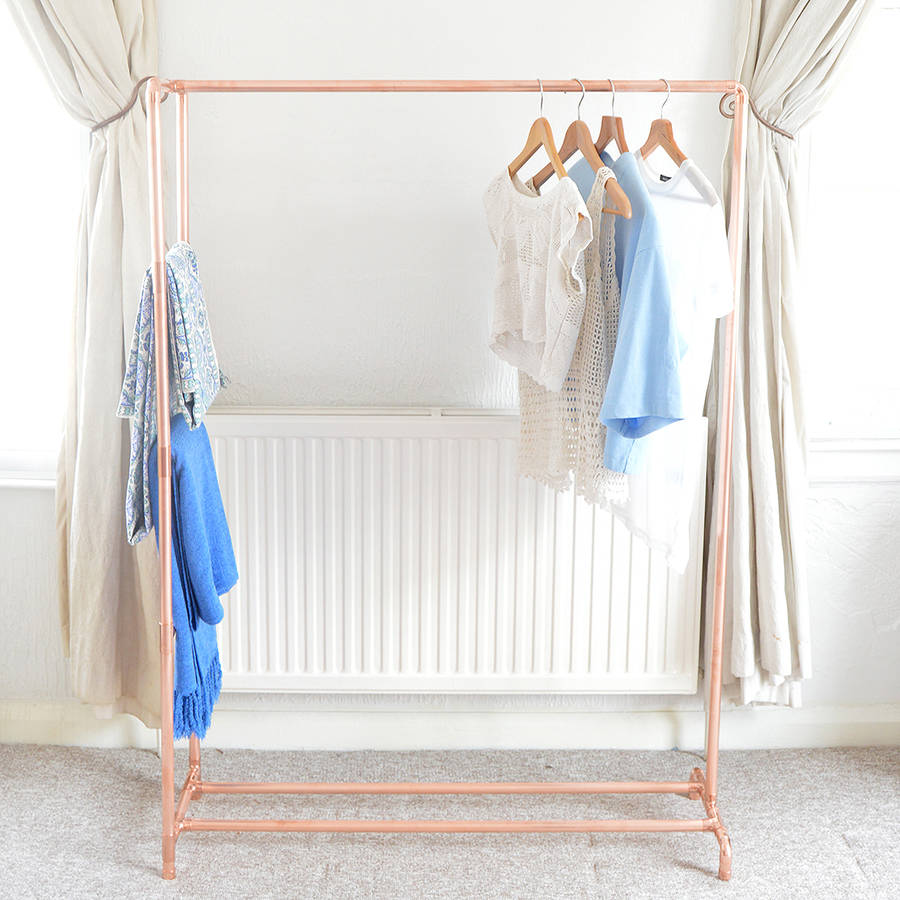 Garderobe Kupfer Copper Pipe Clothing Rail With Display Ladder By Little