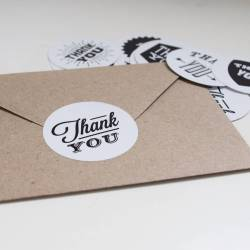 Small Crop Of Thank You Stickers