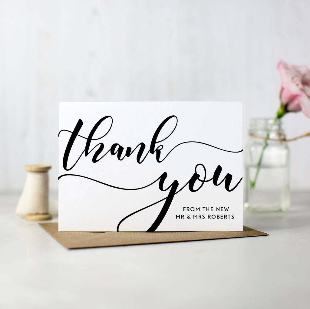 Family Quotes Wallpaper Hd Pack Of 10 Personalised Wedding Thank You Cards By Here S