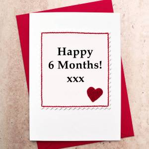 Charming Six Month Anniversary Card Six Month Anniversary Card By Jenny Arnott Cards Gifts Anniversary Card Ideas To Write Anniversary Card Ideas Boyfriend