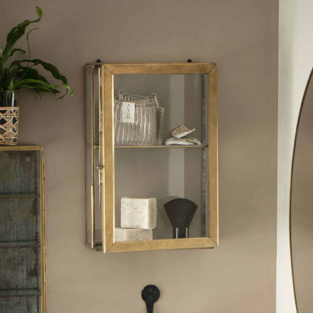 Metal Wall Cabinets Burnished Gold Metal Wall Cabinets In A Choice Of Sizes