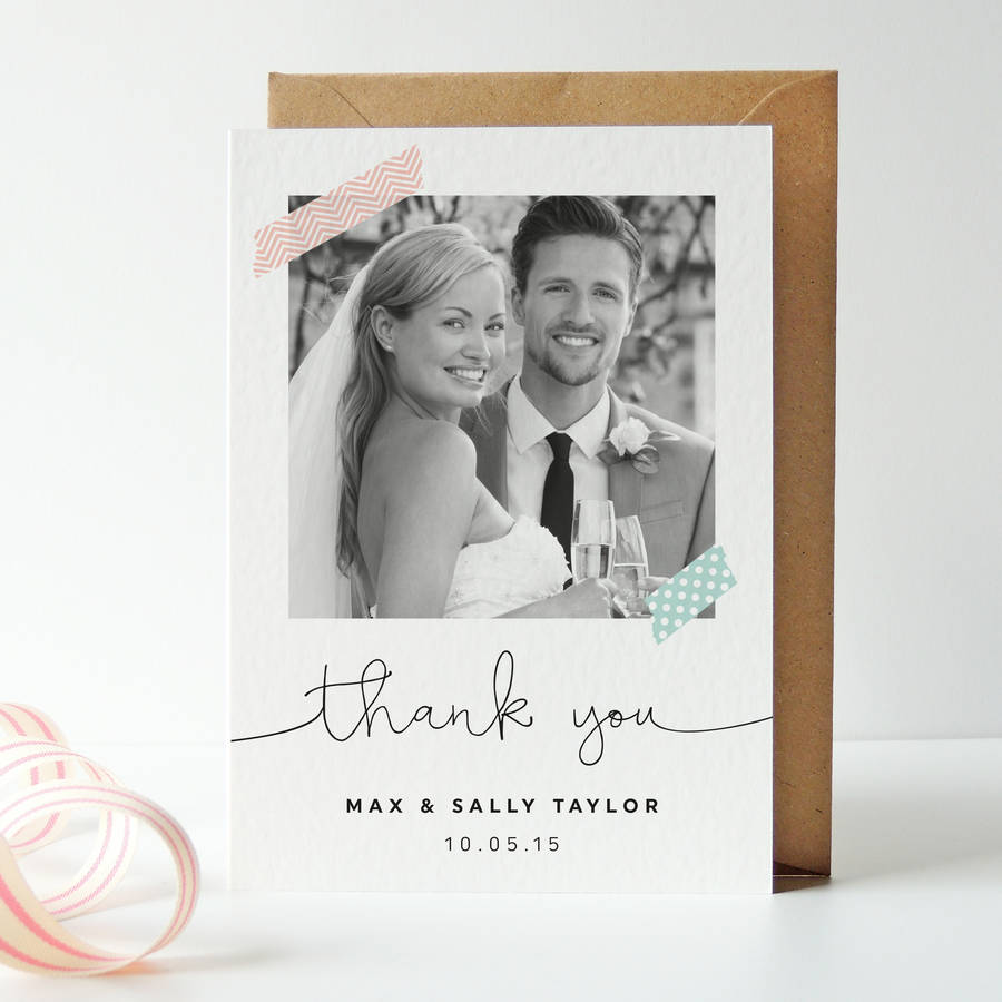 Decent Original Washi Tape Wedding Photo Thank You Cards Photo Thank You Cards Ebay Photo Thank You Cards Staples cards Photo Thank You Cards