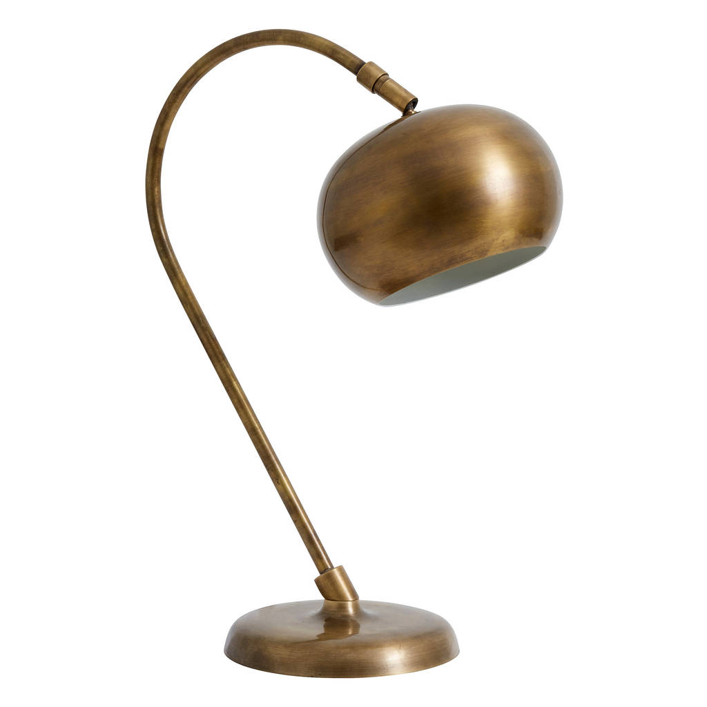 metal orb table lamp by out there interiors