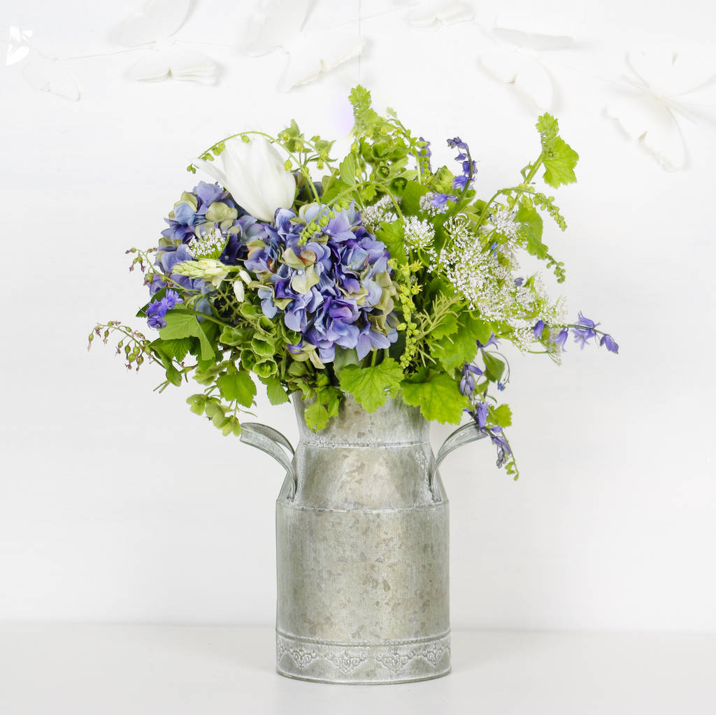 Decorative Milk Urn Vintage Style Milk Churn Flower Vase
