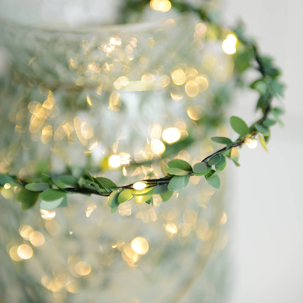 Outside Fairy Lights Outdoor Mini Leaf Fairy Lights By Home And Glory