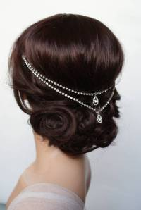 something blue wedding headpiece hair chain by rose red ...
