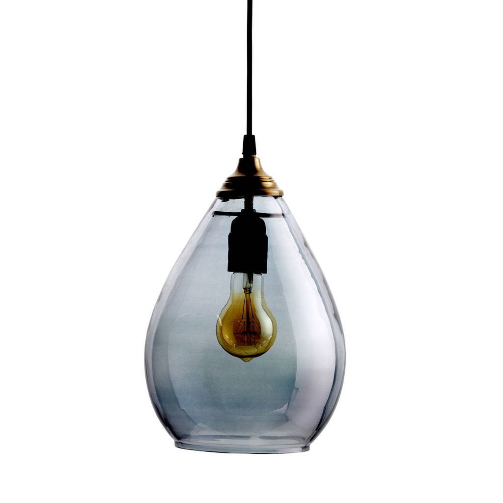 Simple Pendant Lighting Simple Glass Pendant Light By Idyll Home