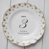 vintage wedding china plate table numbers numerical by ...