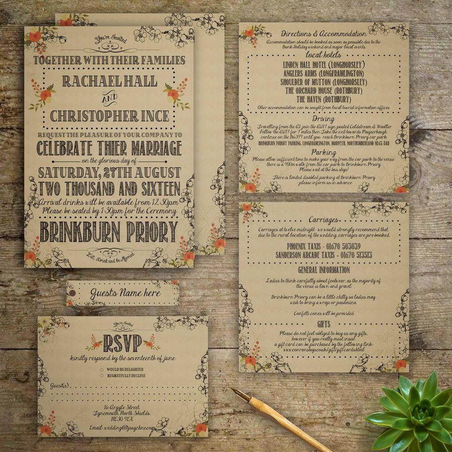 Groovy Vintage Wedding Invitation Vintage Wedding Invitation By Starling Designs Vintage Wedding Invitations Printable Vintage Wedding Invitations Pinterest wedding Vintage Wedding Invitations