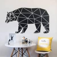 geometric bear wall sticker by parkins interiors ...