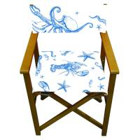 under the sea nautical print garden director chair by more ...