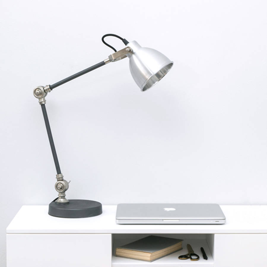 industrial style silver and black desk lamp by urbansize