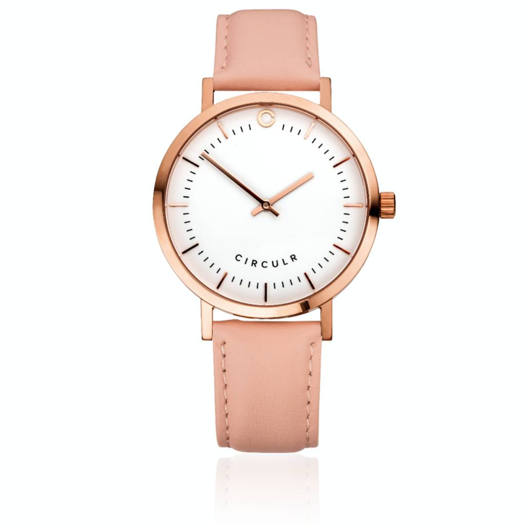 Leather Strap Rose Gold Watch Rose Gold And Pink Leather Strap Watch