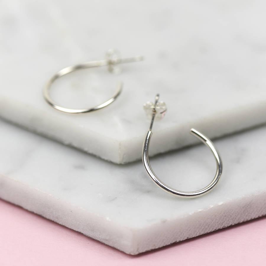 handmade solid gold hoop earrings by ruby tynan jewellery