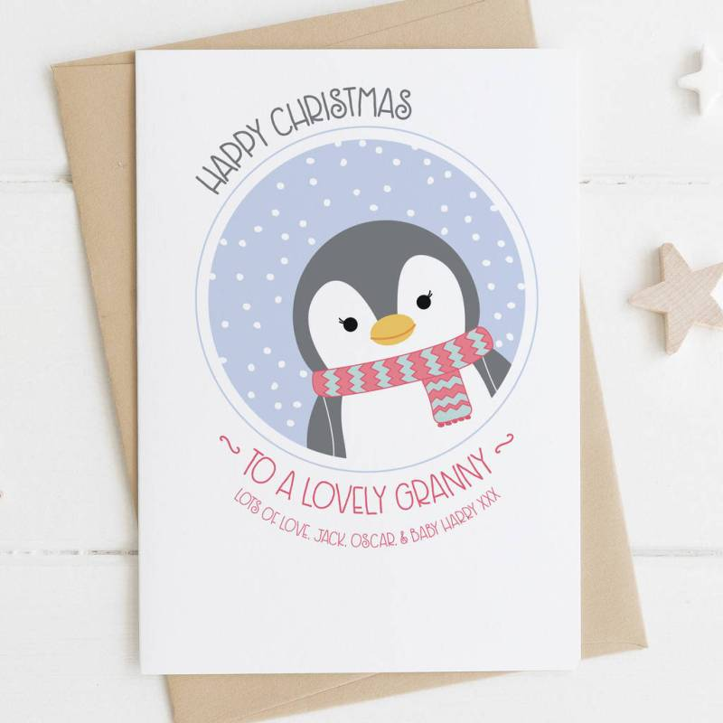 Soothing Granny Penguin Card Penguin Card Ma By Wink Design Cards ...