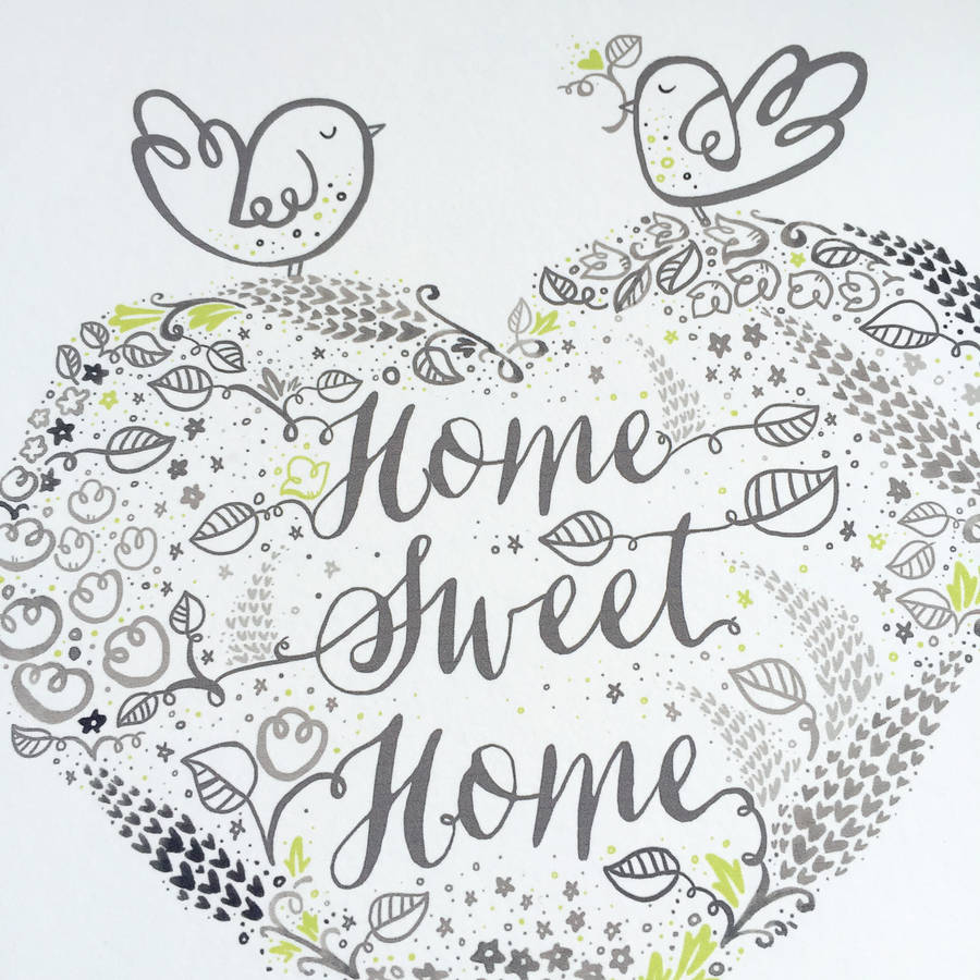 Personalised New Home Gifts Personalised New Home Sweet Home Couples Gift Print