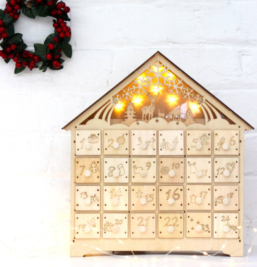 Religious Advent Calendar To Colour Make A Jesse Tree Advent Calendar To Celebrate Christmas Wooden Led Lit Advent Calendar By The Forest And Co