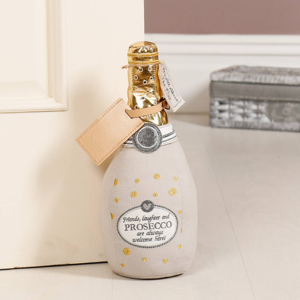 Nautical Doorstop Personalised Novelty Prosecco Bottle Door Stop By Dibor
